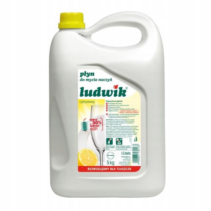 Ludwik Жидкость для мытья посуды, лимонная кислота - 5 л