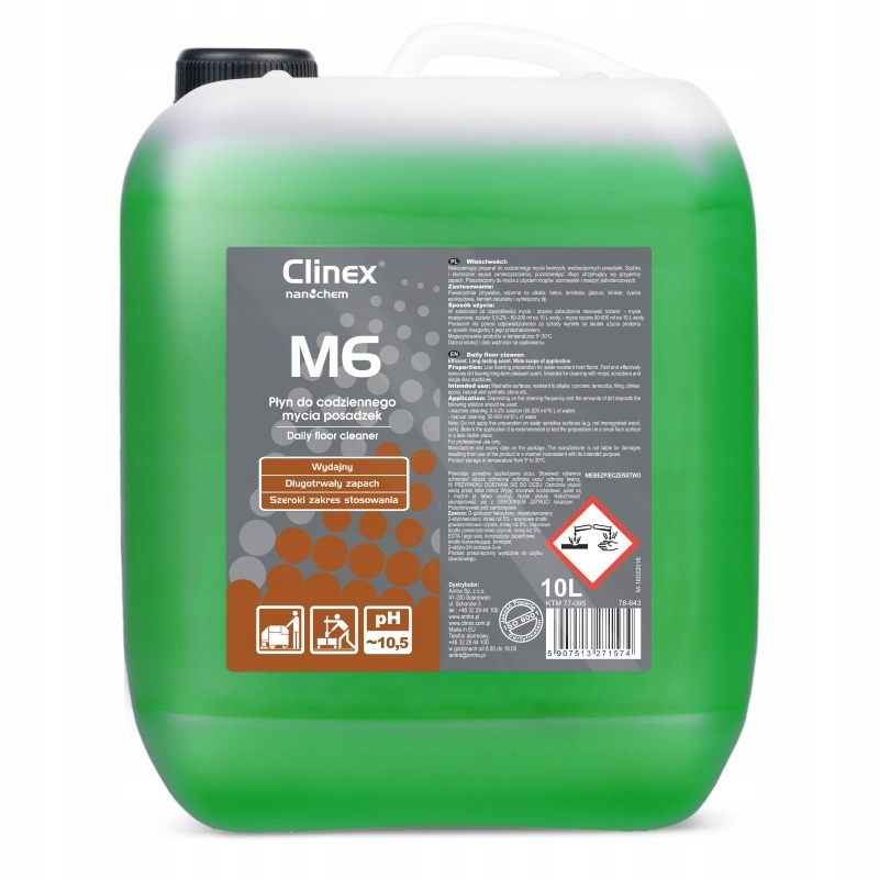 Clinex M6 Medium - Płyn do mycia posadzek - 10 l