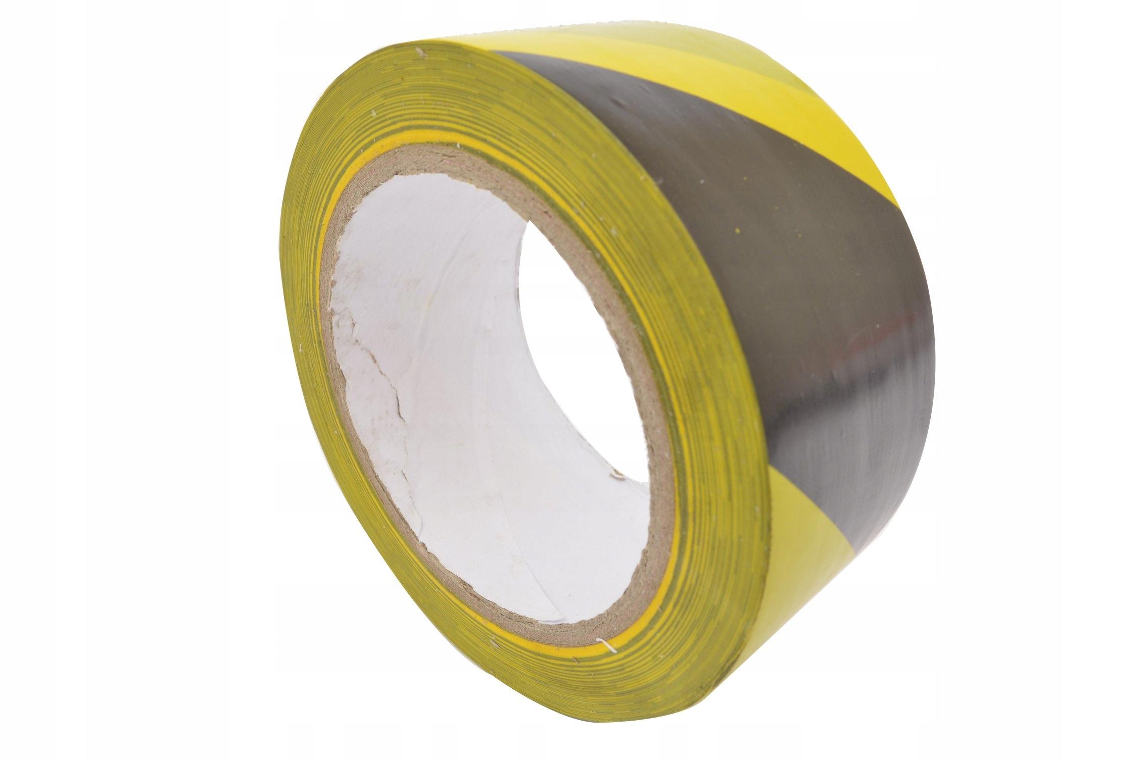 Предупреждающая лента желто-черный ADHESIVE 33mb