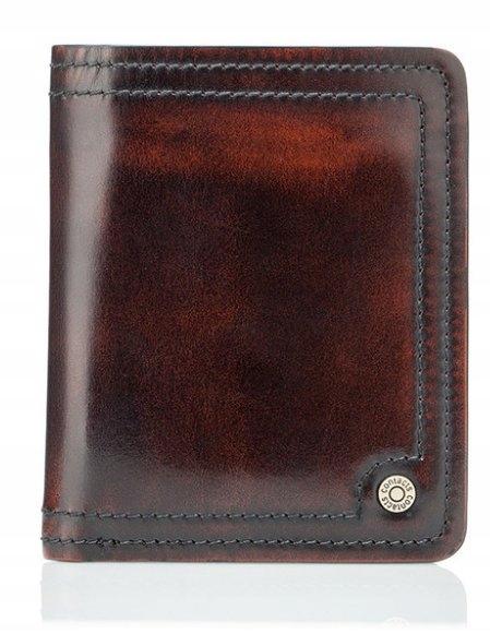 Przypalany elegantné pánske peňaženky, kožené vintage