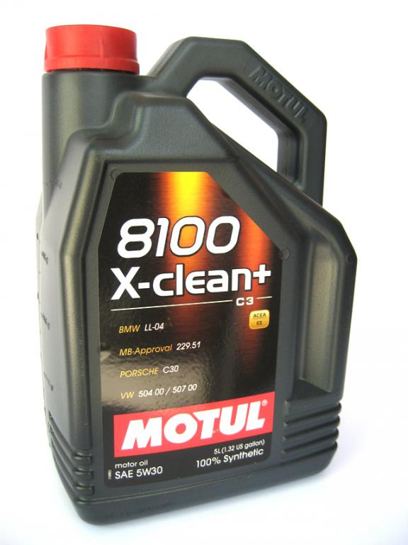 Motul 8100 X-Clean + 5W30 C3 5L 504/507 VW BMW MB