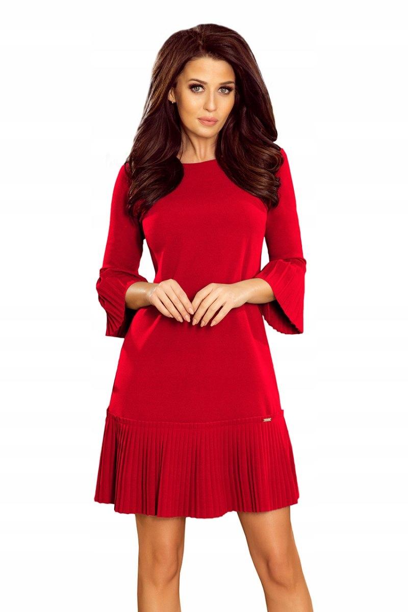 Numoco Plisowana sukienka różne okazje 228-3 S