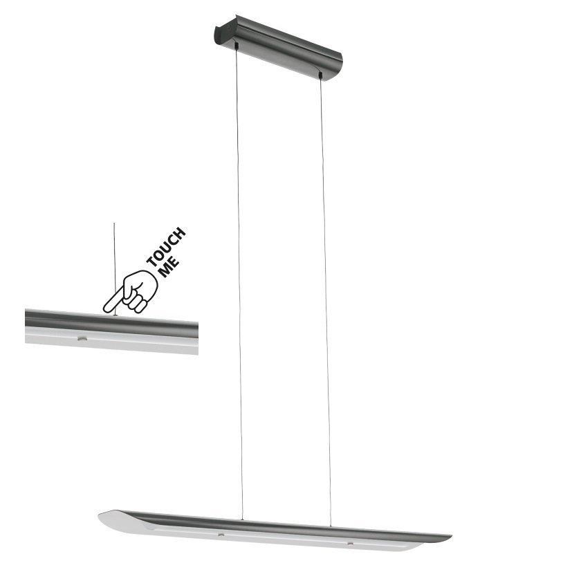 Moderná Lampa Prívesok lampa LED 24W Dotyk Salon Nero
