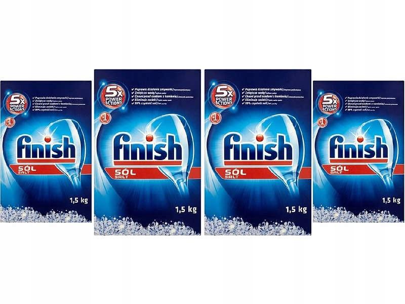 Finish Соль для Посудомоечной машины КОМПЛЕКТ: 4 х 1,5 кг= 6кг