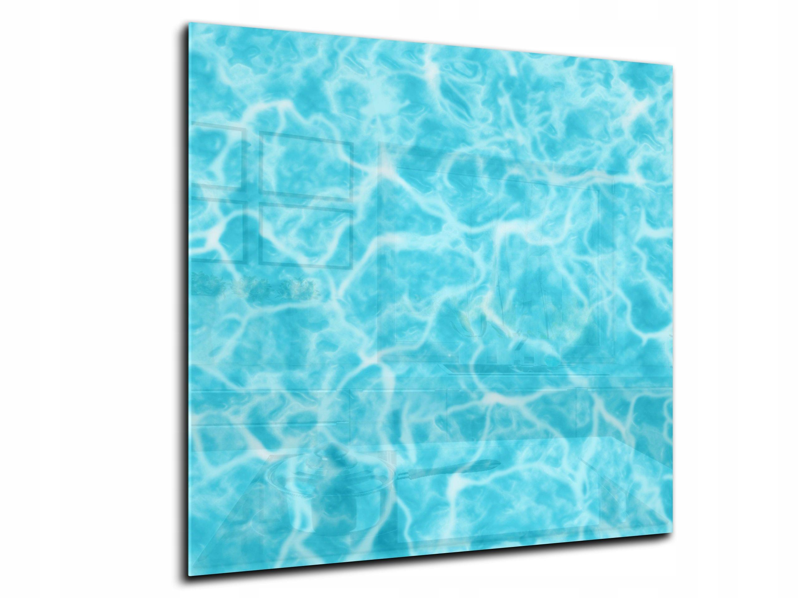 dekor sklenený panel žhavenie 70x70 HD kvapky vody