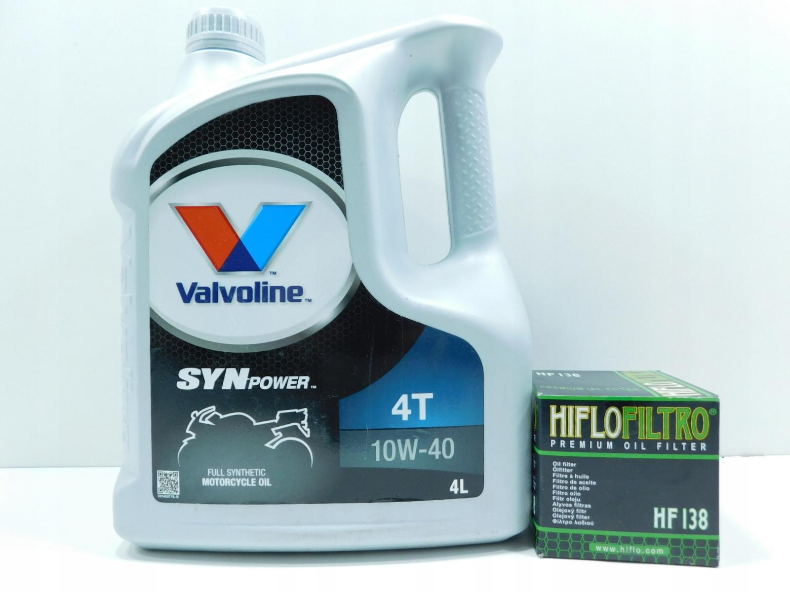 Picture of APRILIA 1100 V4 FILTER HF + OIL VALVOLINE 10W 40