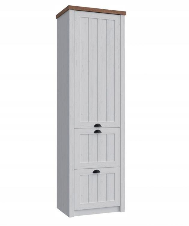 Biela 1-dverová skriňa s retro zásuvkami Provence