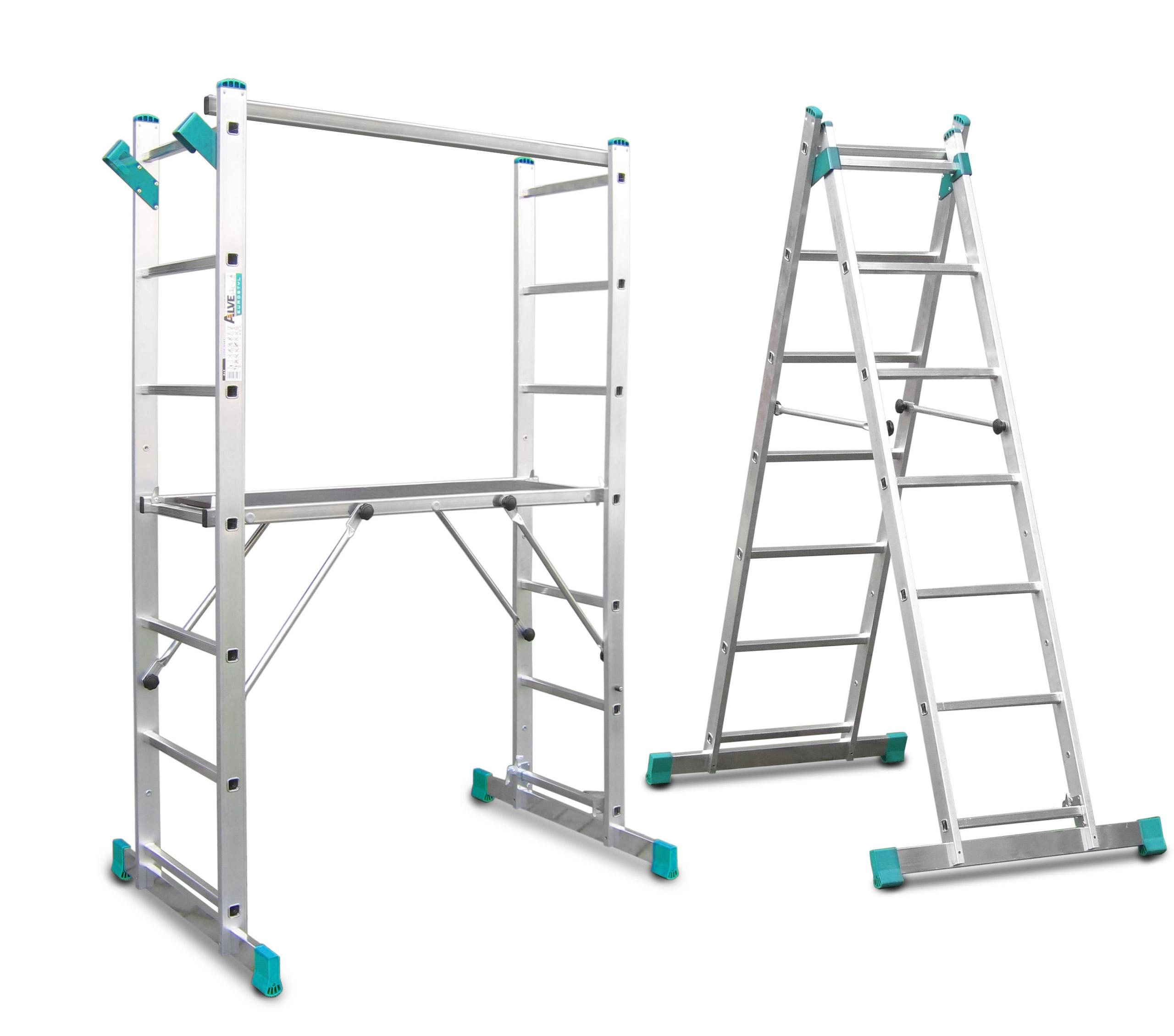 Лестницы, мостки, леса лестница алюминиевая 2x7