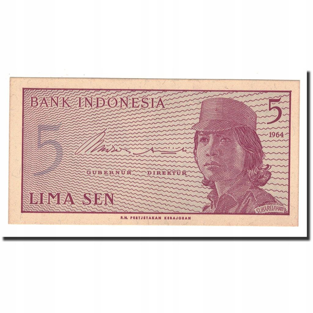 Банкнота, Индонезия, 5 сен, 1964, KM: 91a, UNC (65-70