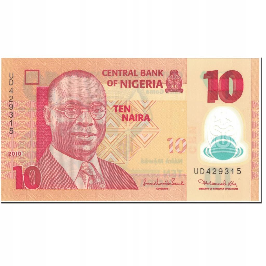 Банкнота, Нигерия, 10 найра, 2010 г., без даты (2010 г.),