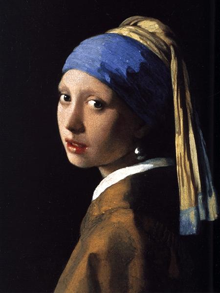 Репродукция. Девушка с жемчужной серьгой - Вермеера 80x60.