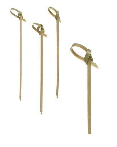 Bambusové špáradlá s slučkou 15cm 100ks.