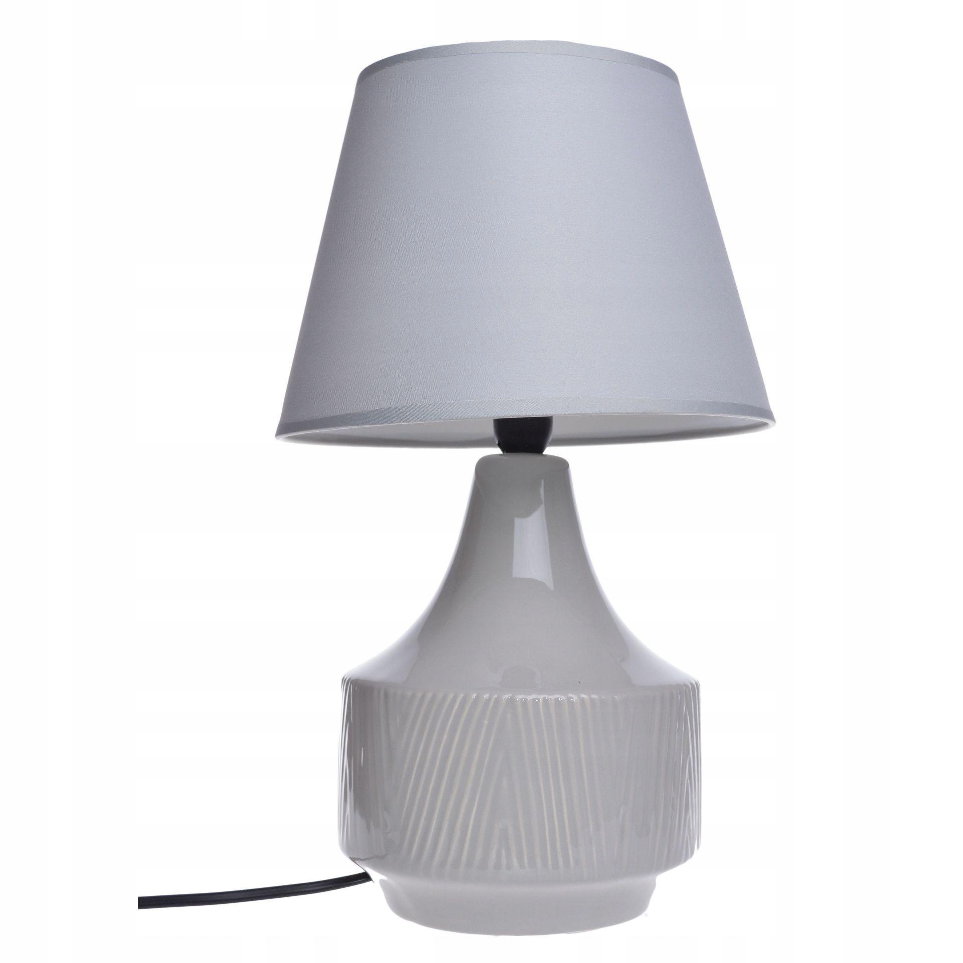 Stolná lampa Vibor sivá retro 36 cm na Stôl