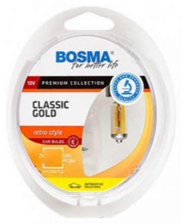 BOSMA CLASSIC GOLD H4 60/55W RETRO ŠTÝL BOX 2KS