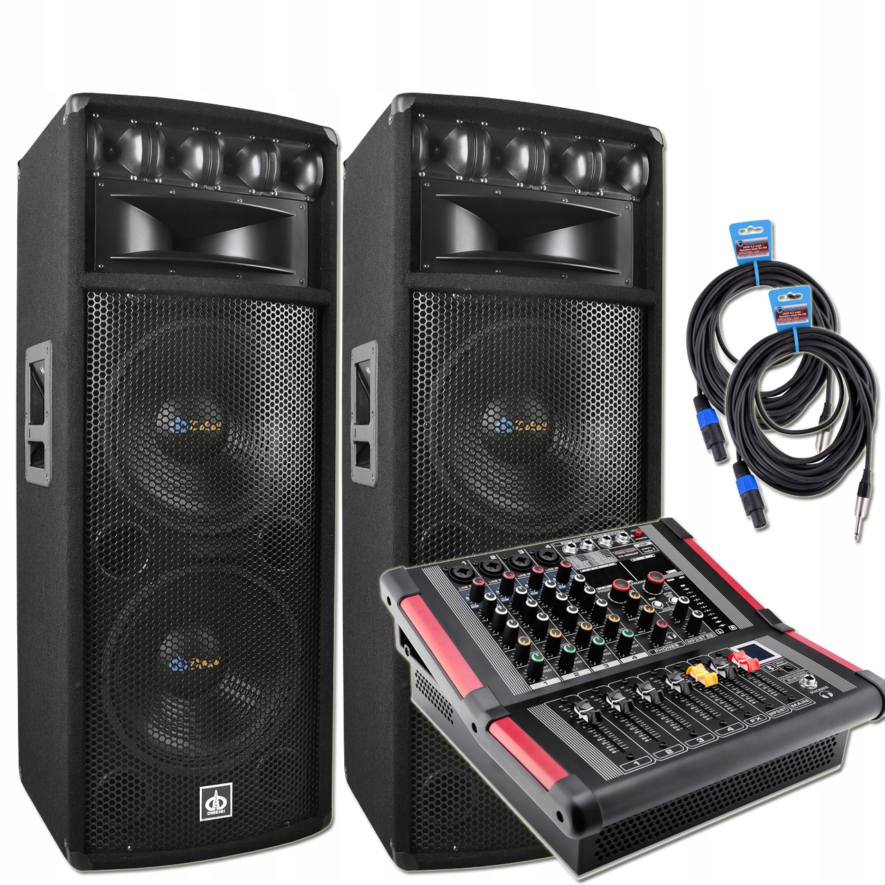 Item A SET OF FLOOR SPEAKERS POWERMIKSER POWER 1600W