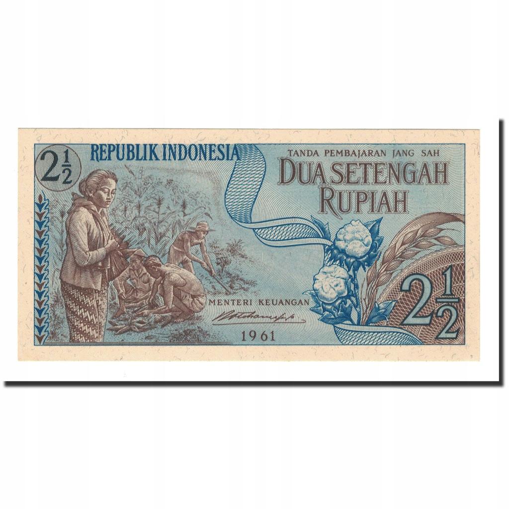 Банкнота, Индонезия, 2 1/2 рупии, 1961, КМ: 79, UNC