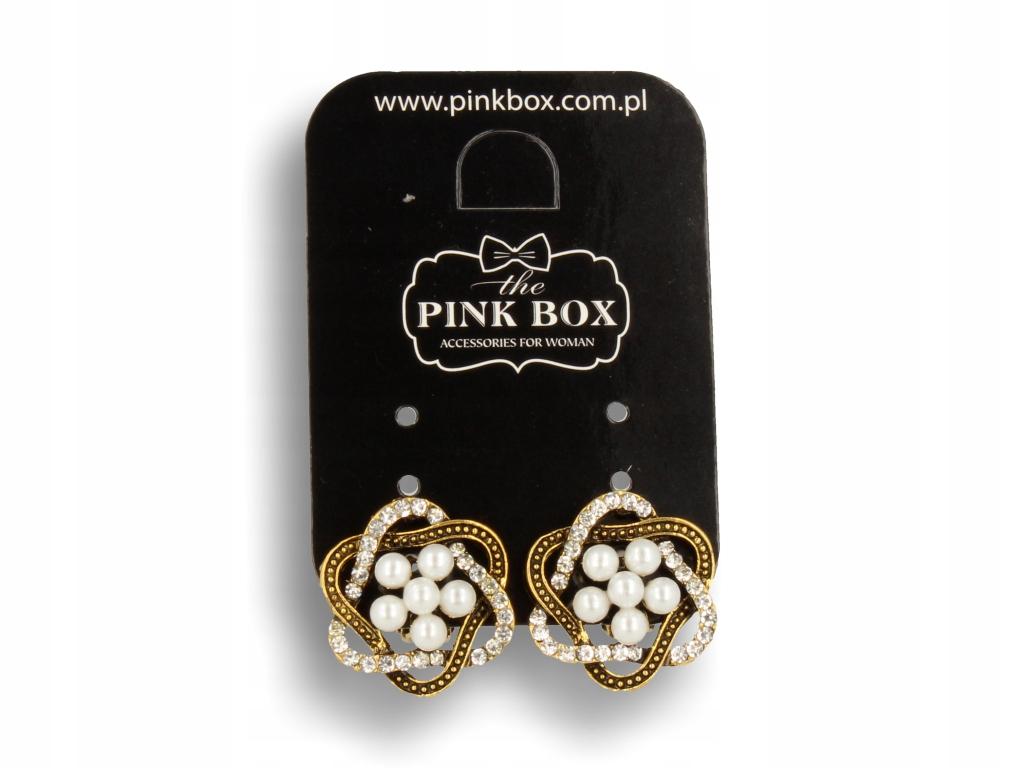 Zlato clip-on náušnice vo vintage štýle s bielymi perlami