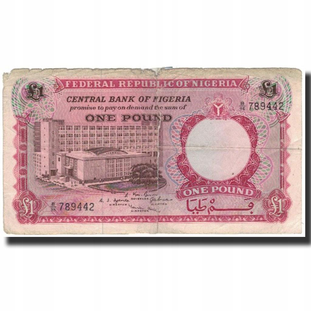 Банкнота, Нигерия, 1 фунт, без даты (1967), KM: 8, G
