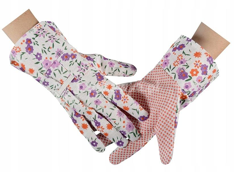 Садовые перчатки женские с цветочным рисунком Lady