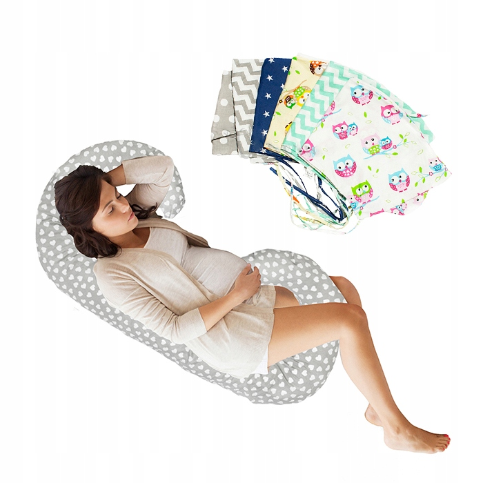 Купить Подушка для беременных Тип C + в подарок запасной чехол на Otpravka - цены и фото - доставка из Польши и стран Европы в Украину.