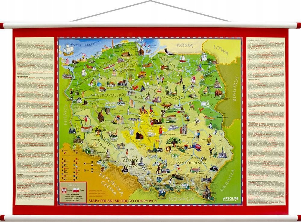 Item Poland map wall sandwich panels laminated for children - 2017