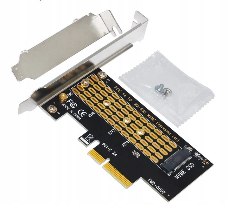 Адаптер PCI-e x4 Адаптер M. 2 МАТЕРИНСКАЯ M Key SSD NVMe