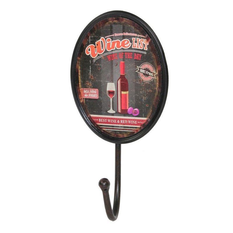 Oblečenie vešiak Viniča kolo čierna vintage