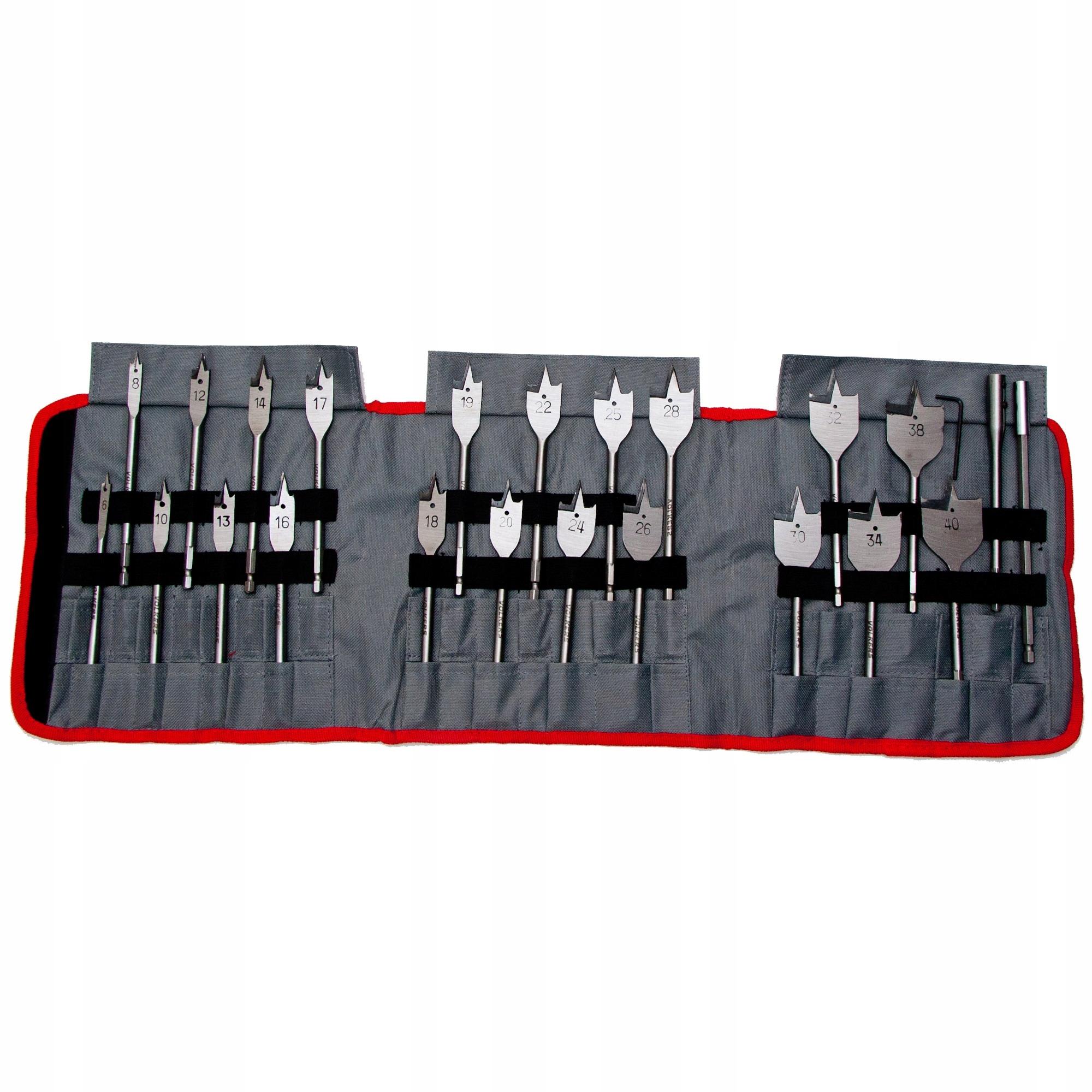 KPL. 24ks. Drevené vŕtačky, Flat 6-40x155mm