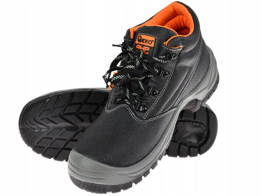 PROTECTIVE SHOES LEATHER WORK SHOES HIGH r 43