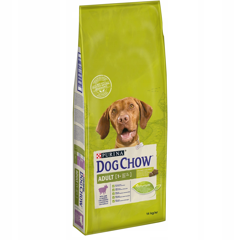 Purina DOG CHOW Взрослый ягненок, корм для ягненка, 14 кг