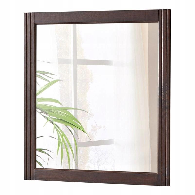 Klasické zrkadlo v hnedý rám, Retro