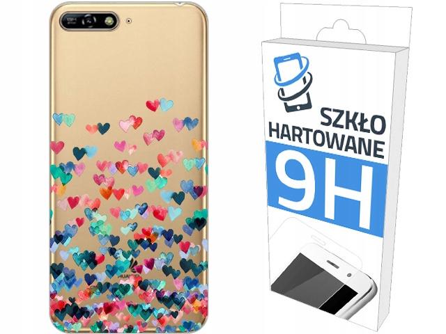 200wzorów Etui+szkło do Huawei Y6 2018 Panel Case