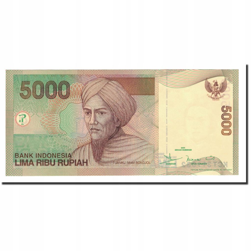 Банкнота, Индонезия, 5000 рупий, 2001, 2001-2007 гг.,