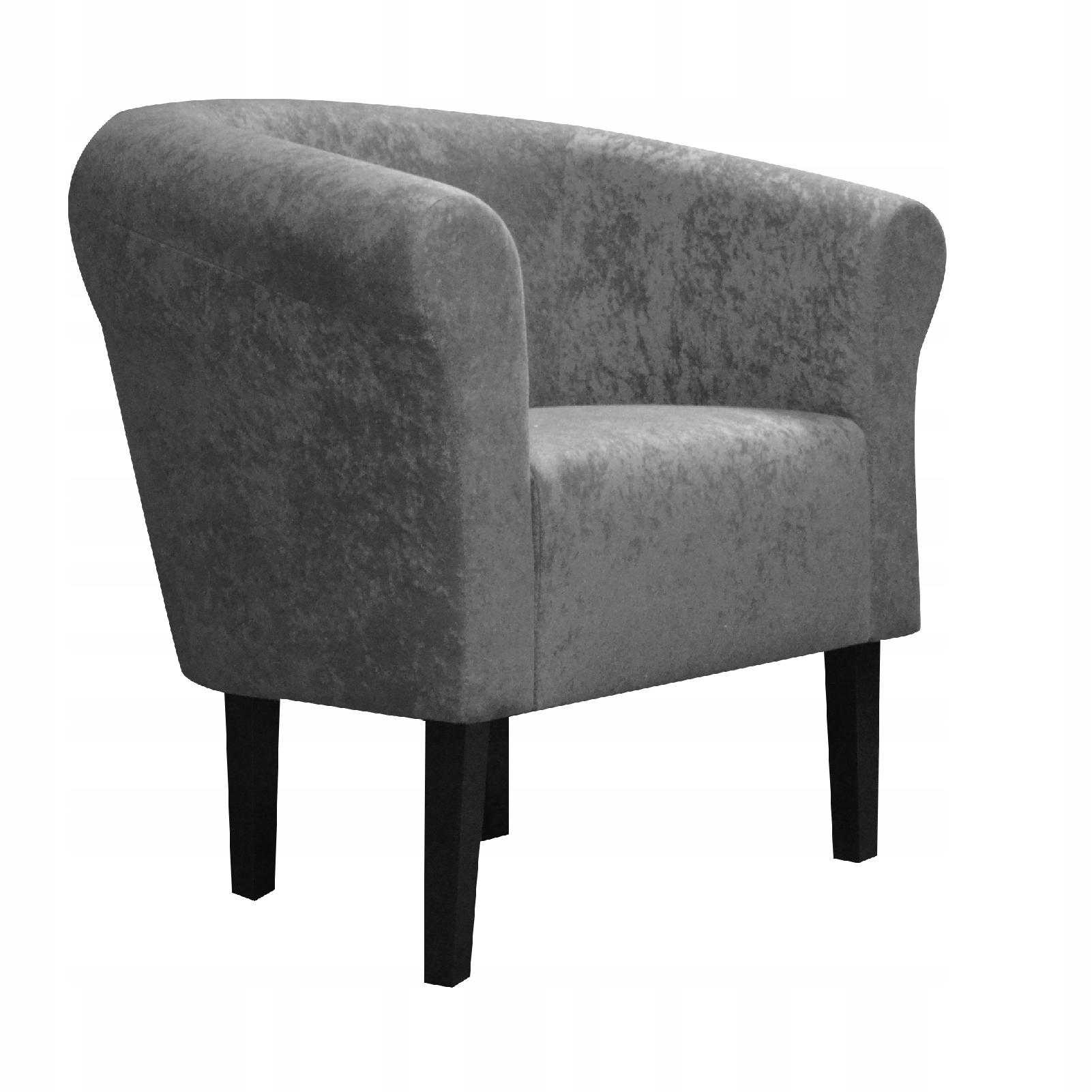 Клубное кресло Monaco Mikrowelur Grey Living Room Dom
