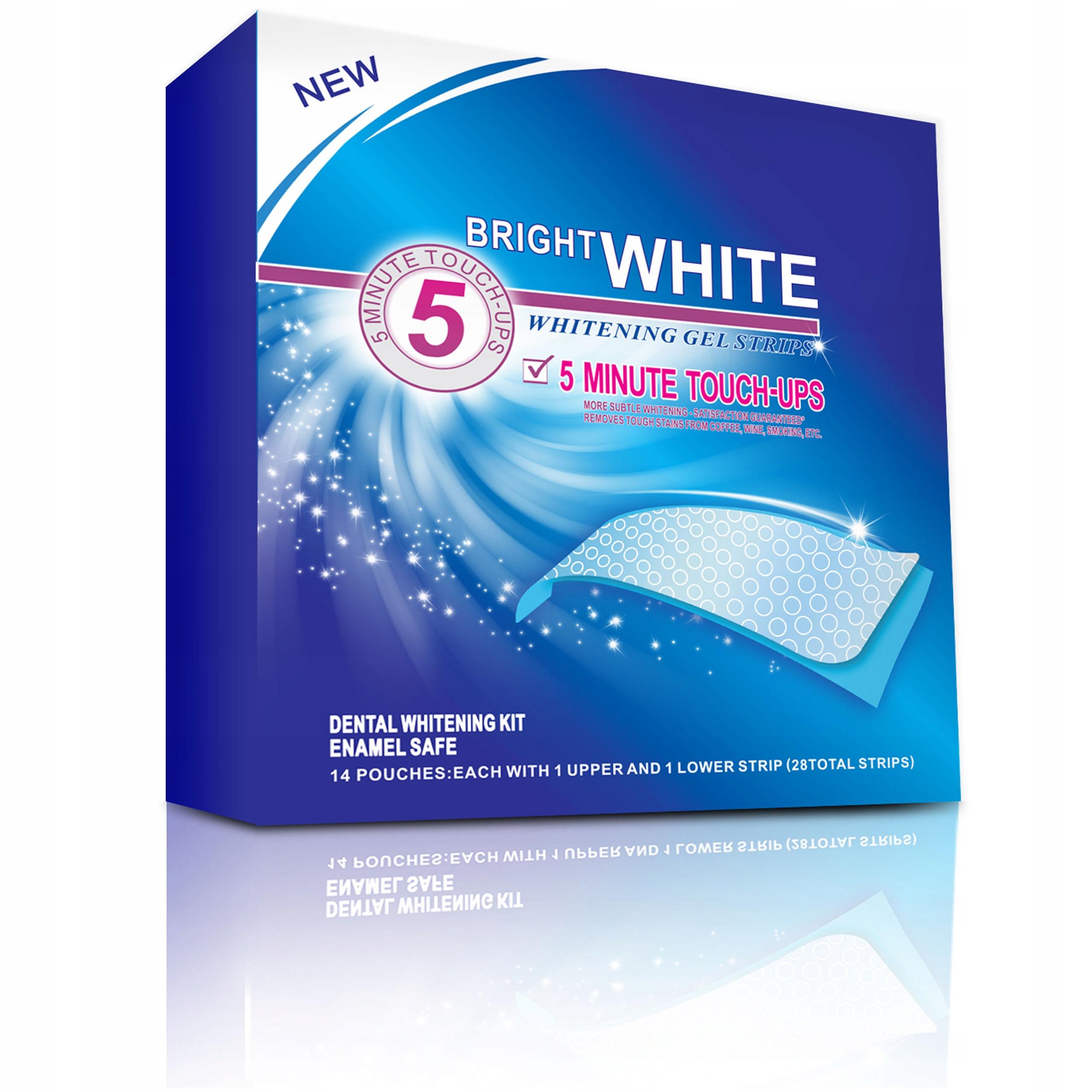 Paski wybielające zęby BRIGHT WHITE 56 szt +GRATIS