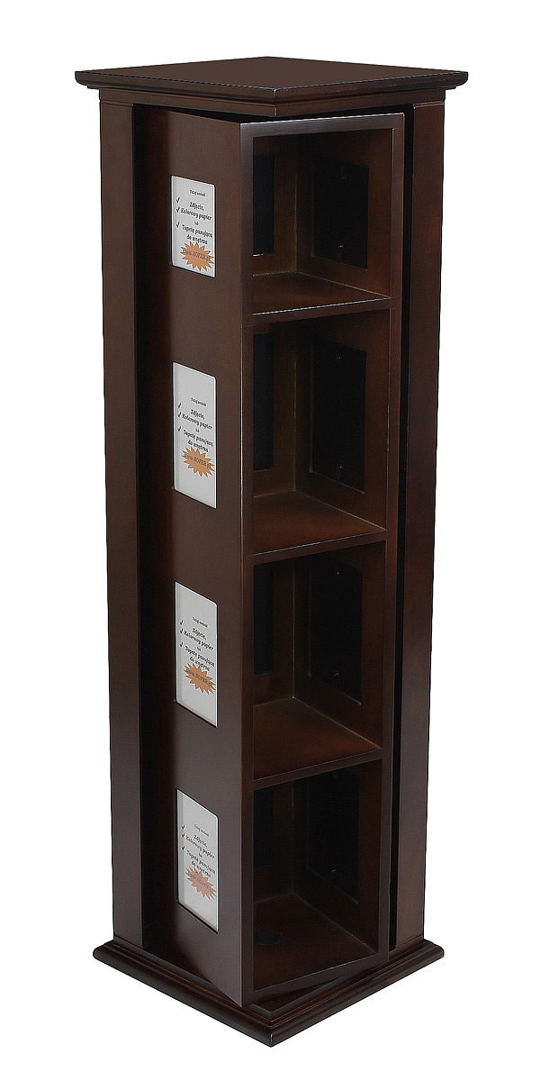 Item rack rack Rack for CD DVD brown