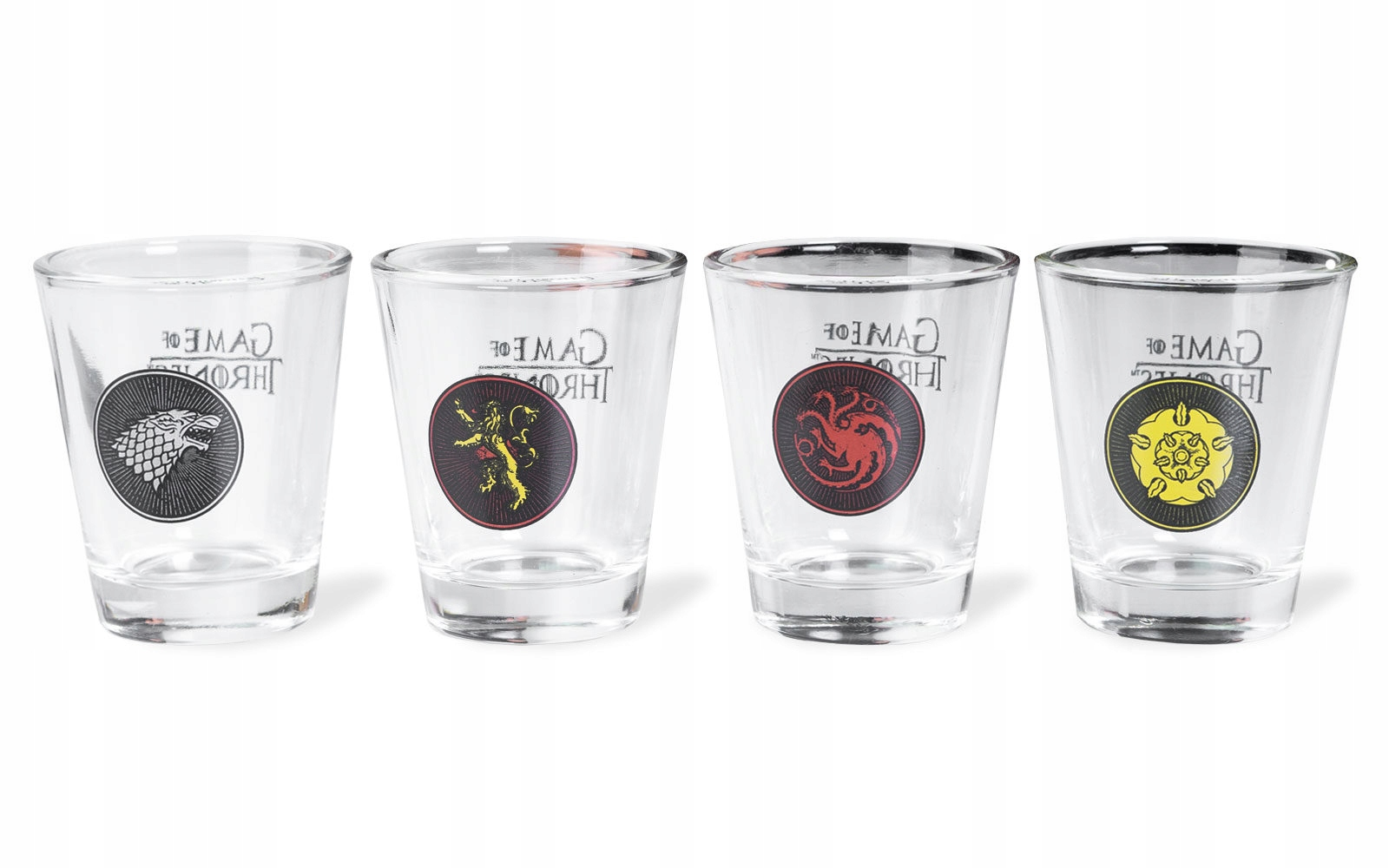 Item Game of thrones coats of Arms of Families - 4x shot glasses 50 ml
