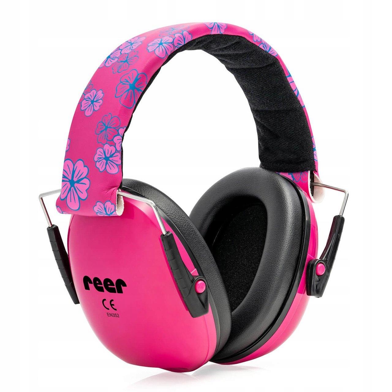 REER Ochranné slúchadlá pre deti od 3 rokov ružové