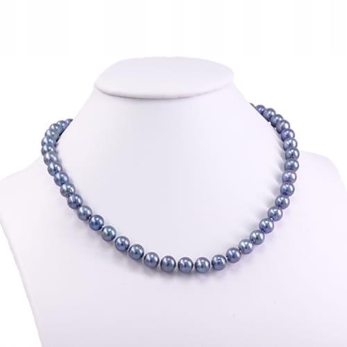 B* TAMAR náhrdelník prírodné black pearl páva