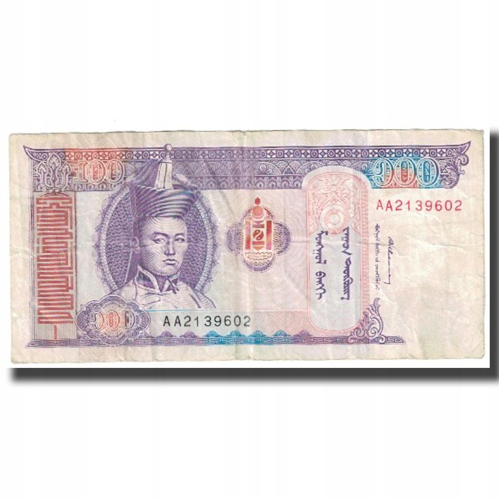 Banknot, Mongolia, 100 Tugrik, KM:57, VF(20-25)