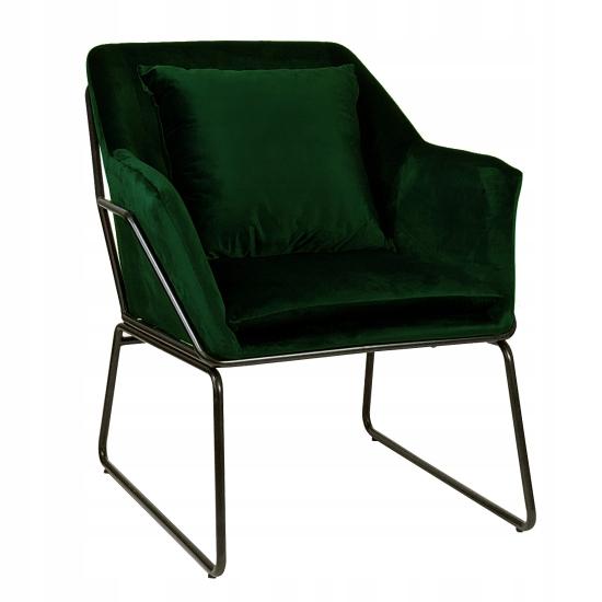 Кресло подбитый Tomo Velvet dark green