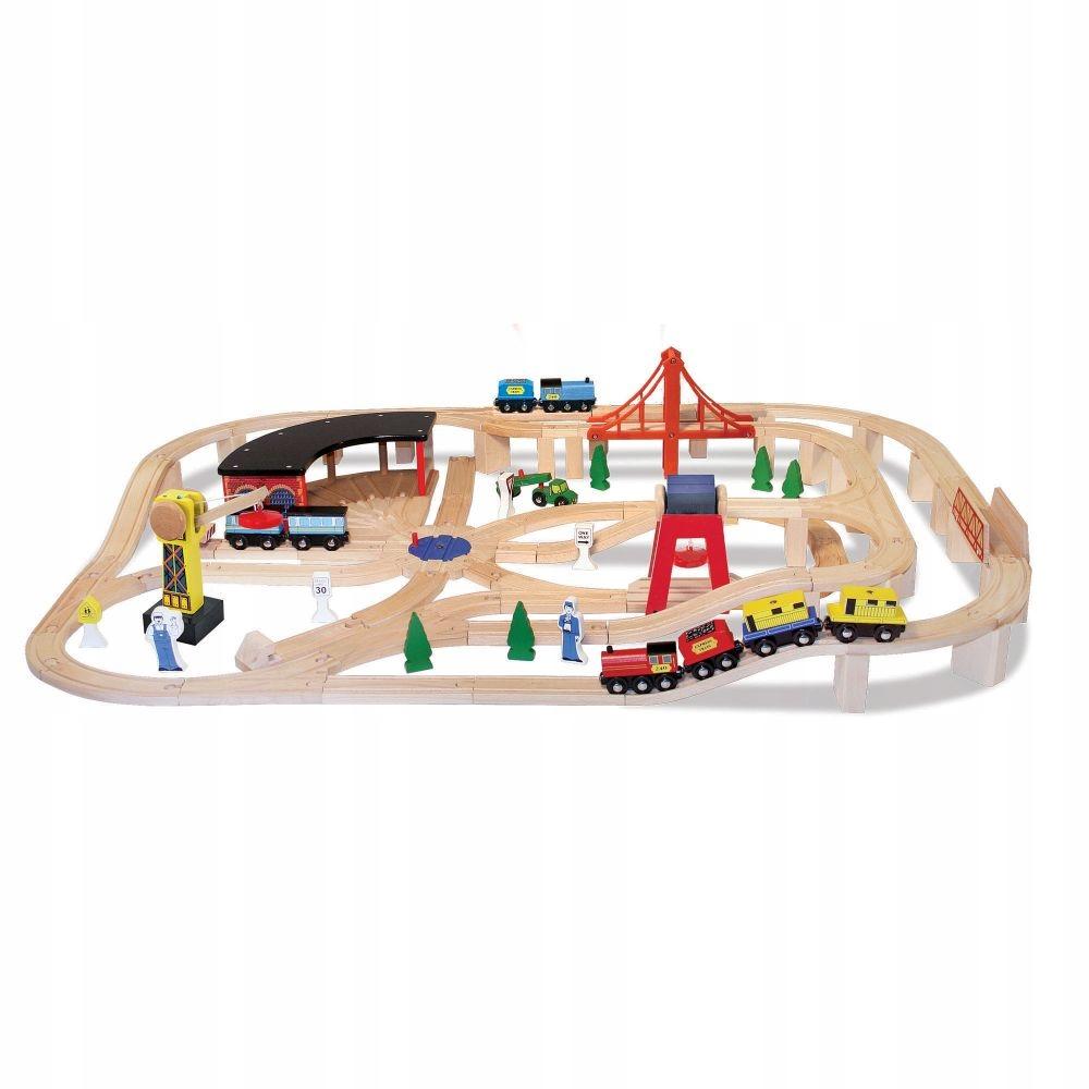 Hračky pre deti Drevená železnica MelissaDoug