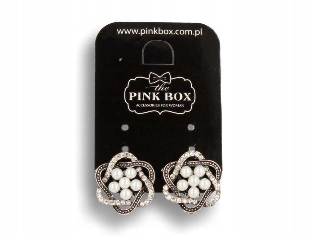 Strieborný clip-on náušnice vo vintage štýle s bielymi perlami
