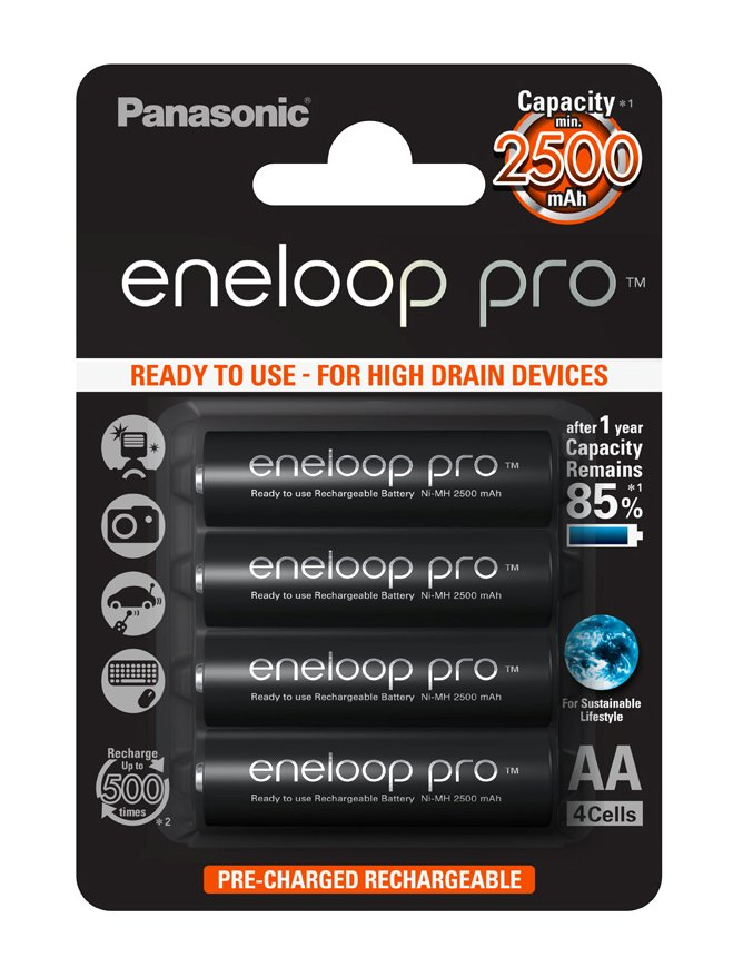4x Panasonic ENLOOP PRO R6 / AA 4BB Batérie