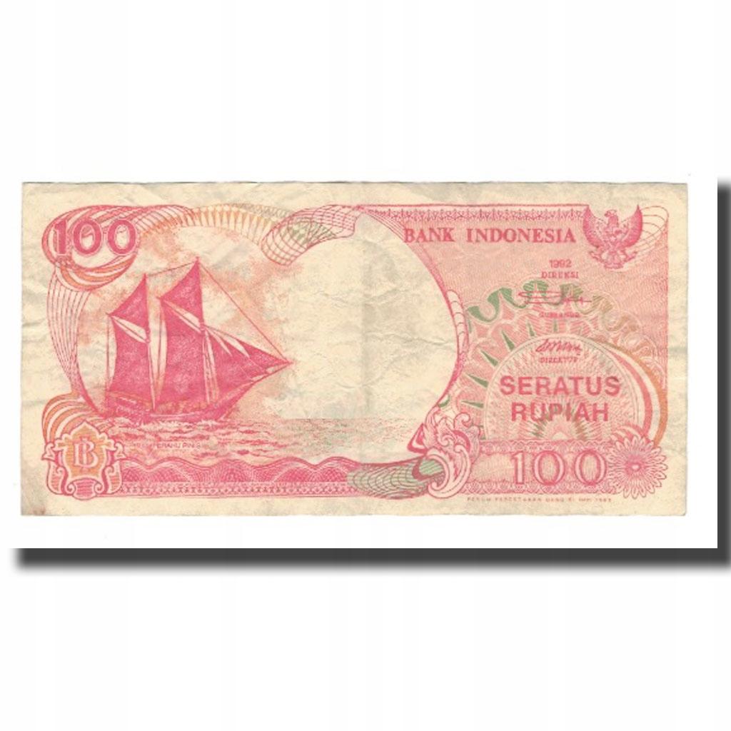 Банкнота, Индонезия, 100 рупий, 1992, без даты, KM: