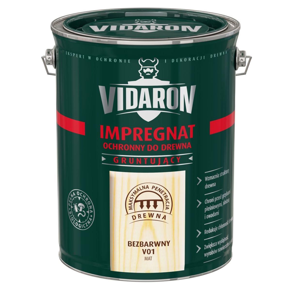 VIDARON Грунт-Пропитка грунтовка для древесины, 9л
