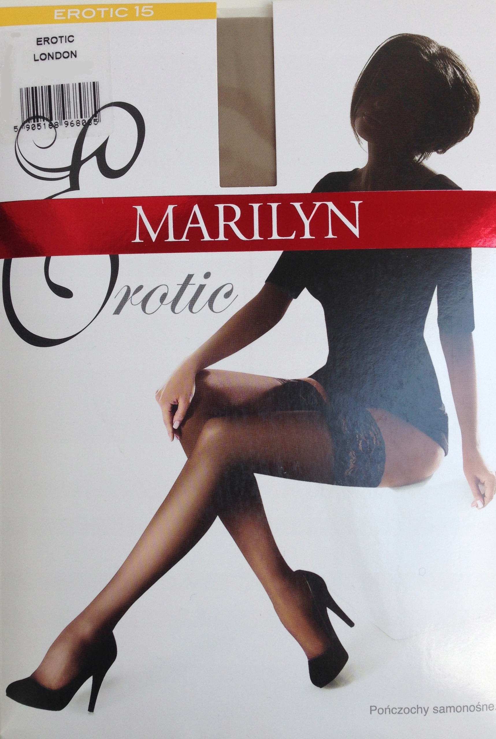 Pończochy Marilyn Erotic 15 den Nero 1/2