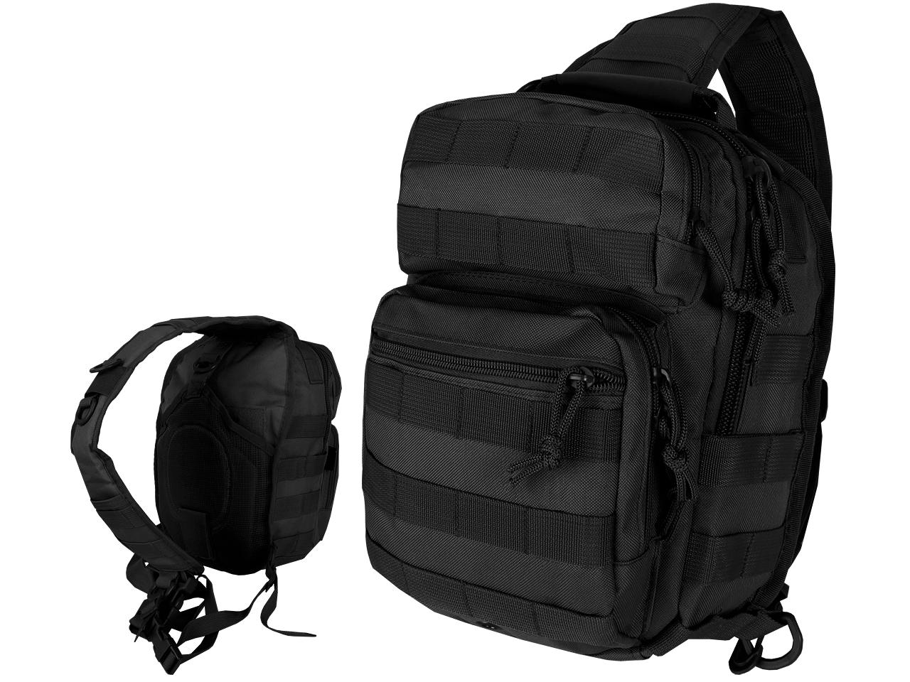 Backpack Bag Assault na jednom ramene Čierna Čierna