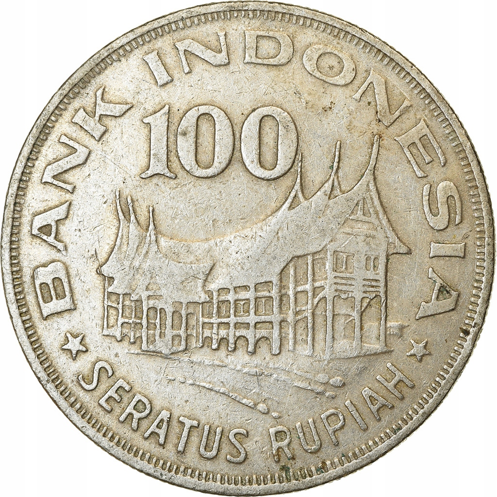 Монета, Индонезия, 100 рупий, 1978, EF (40-45), Mi