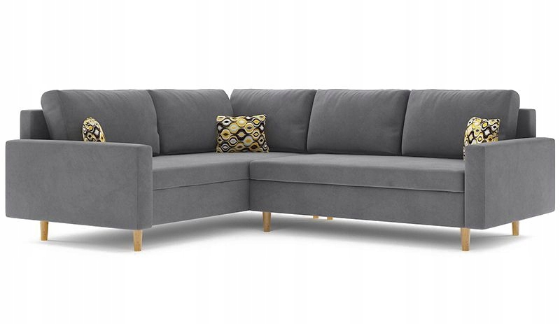 Угловой диван ETNA II, функция СПАЛЬНАЯ кровать.